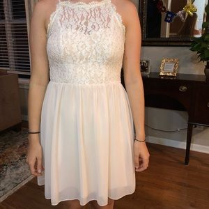 Light pink halter dress